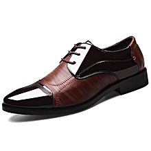 143986f2b977 Men's Formal PU Leather Shoes Fashion Business Splice Shoes