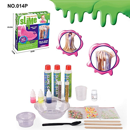 DIY Fluffy Slime Kit Non-toxic Crystal Borax Slime Glue For Kids Adults Multicolor