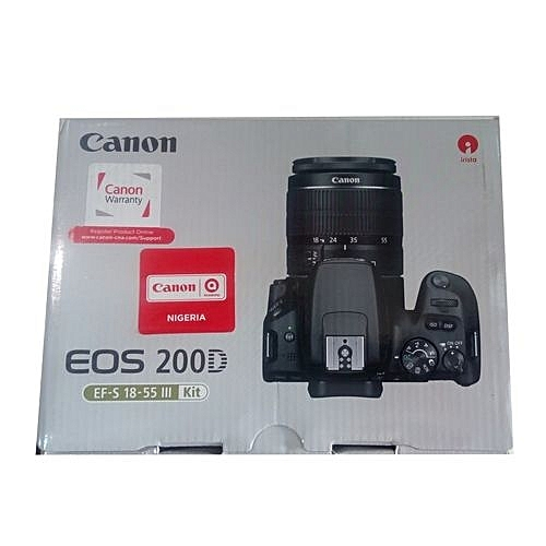 200D Canon Camera 18-55mm Lens
