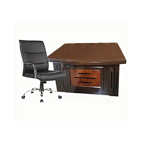 1.4m Director's Table & Chair - Office Set