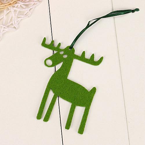 10PC Christmas Elk Ornament Hanging Pendant Embellishment Wannag