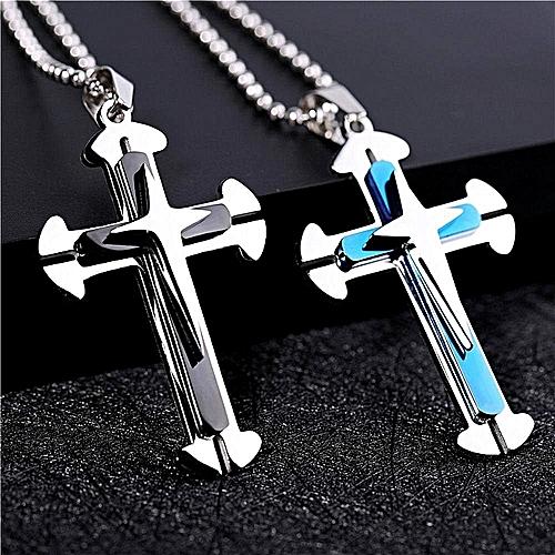 Cross Ring Necklack Fashion Cross Pendant Necklace Men