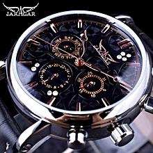 ac802d0df35 Jaragar Blue Sky Series Elegant Design Genuine Leather Strap Male Wrist  Watch Mens Watches Top Brand