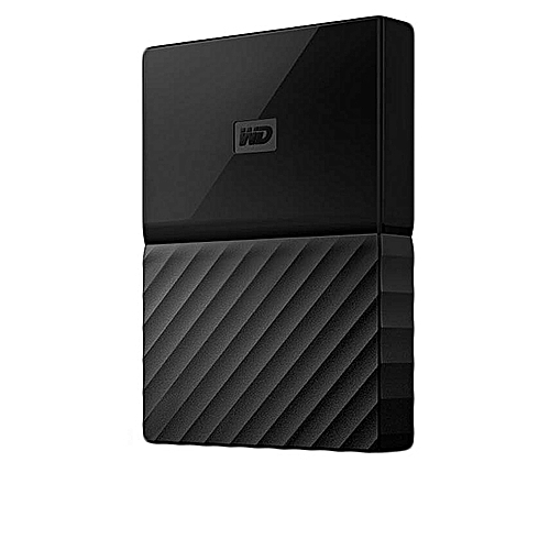 (WD) 2TB My Passport Portable USB 3.0 External Hard Drive With Auto Backup - Black