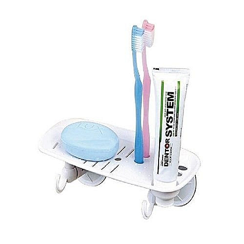 Soap Dish With Toothbrush And Toothpaste Holder