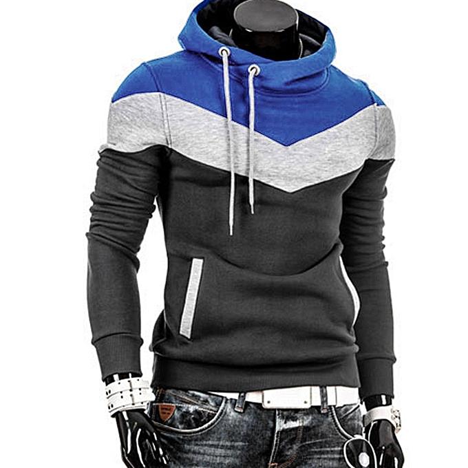 a2d083abb0f Men Retro Long Sleeve Hoodie Hooded Sweatshirt Tops Jacket Coat Outwear