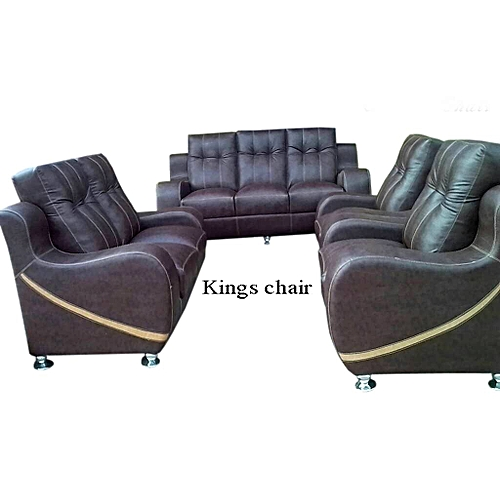 Los Angeles Leather Sofa. Brown, (Order Now And Get OTTOMAN Free) Delivery Only In Lagos