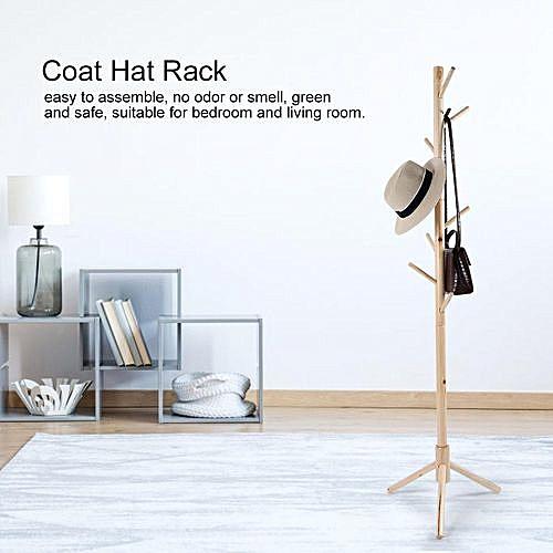 Tree Style Wooden Coat And Hat Rack Standing Hanger