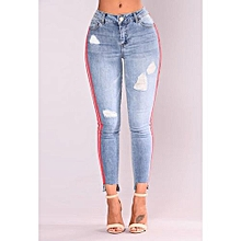 83ad87c8a Popular Lady  039 s Able Jeans Women  039 s Hole Slim Cowboy