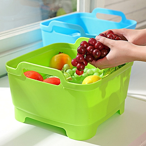 Vegetable Fruits Storage Basket With Cover