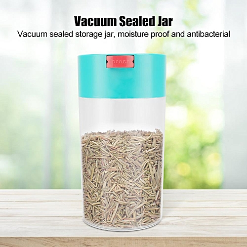Plastic Vacuum Sealed Storage Jar Food Container For Coffee Beans, Tea And Dry Goods