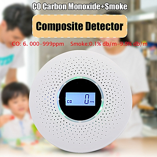 Co Carbon Monoxide Detector Smoke Fire Alarm W/ Voice Warning Home Security