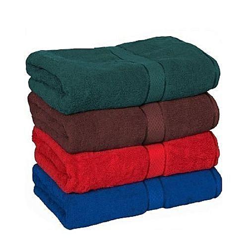 Soft 4 Pcs Bathroom Towels- Medium
