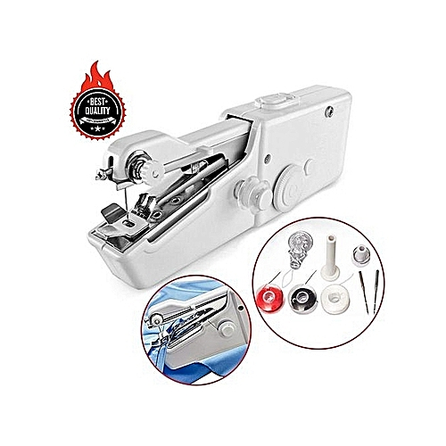 Hot Sales 2018 Mini Portable Smart Electric Tailor Stitch Hand-held Sewing Machine Home Travel - Plus FREE Threads