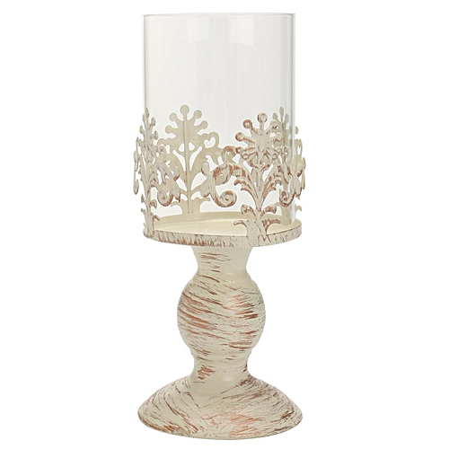 Pillar Candle Lantern Glass Dome Holder Wedding Decorative Garden European Style
