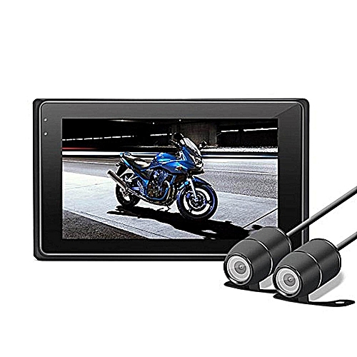 Motorcycle Dash Cam 1080P + 720P Dual Lens 3 Inch LCD Screen Inline Control Motorcycle Driving Recorder Dual Lens Motorcycle Dash Cam Sports Action Camera With WiFi G-sensor Function Waterproof Box
