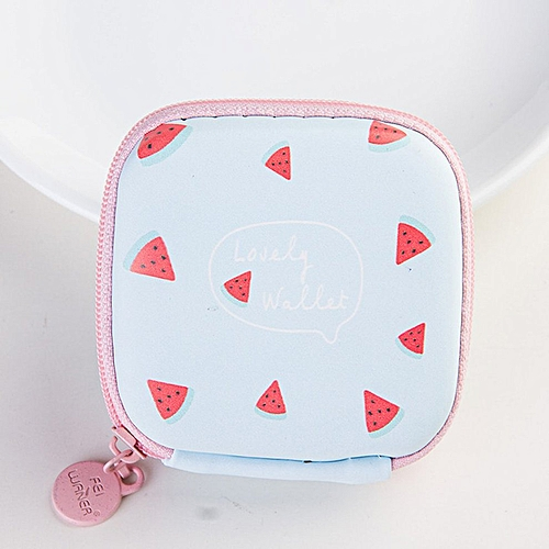 Headphone Data Cable Storage Box - Watermelon Red