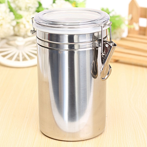 Stainless Steel Airtight Sealed Canister Coffee Flour Sugar Tea Container Holder XL