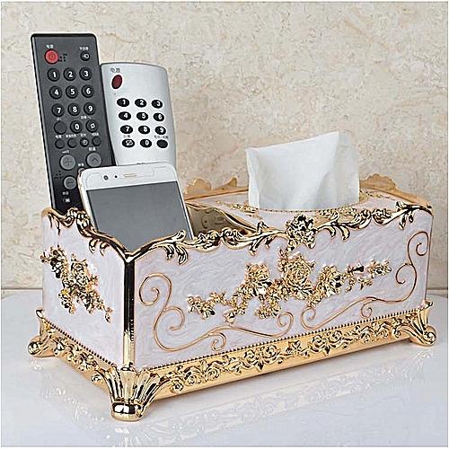 Retro Tissue Box Acrylic Paper Napkin Box Case Cover Phone Holders Organizer