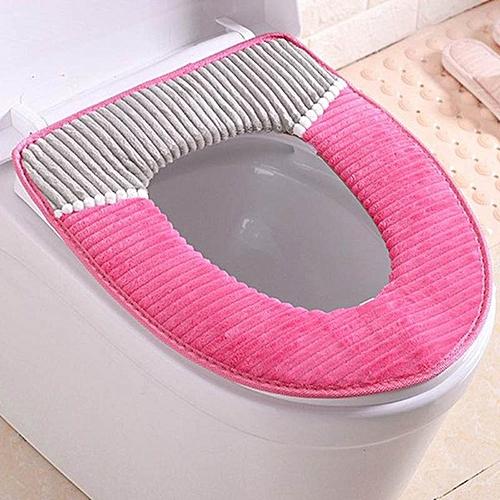 Shinewerop Bathroom Dedicated Simple High Quality Corduroy Thicken Toilet Seat Cushion