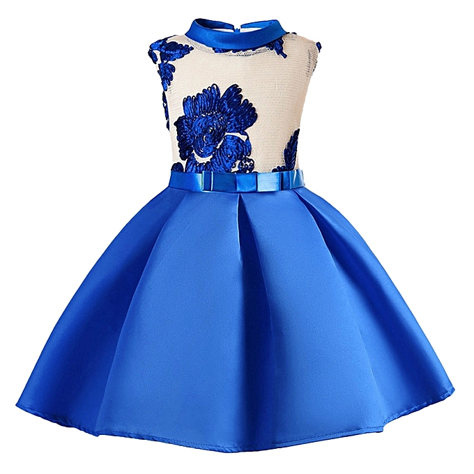 bb21a14bc82c Child Girls Princess Dress Kids Party Flowers Embroidery Wedding Formal  Dresses