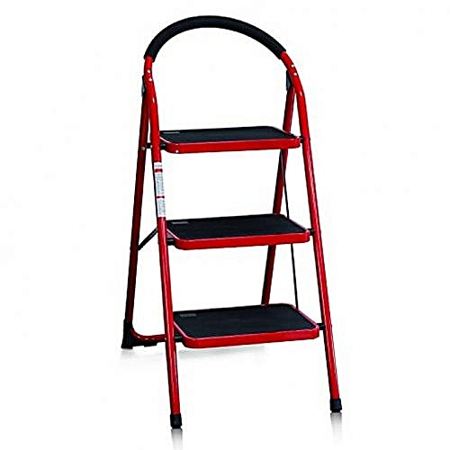FAMILY-USE PORTABLE HOUSEHOLD 3STEPS LADDER - FOLDING/PLATFORM