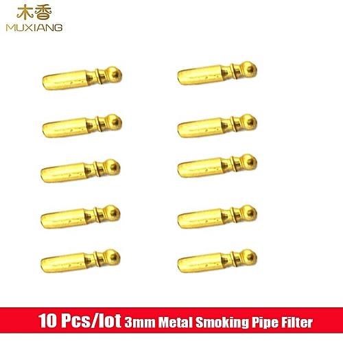 10 Pcs/lot 3mm Metal Smoking Pipe Filter Mouthpiece Tools