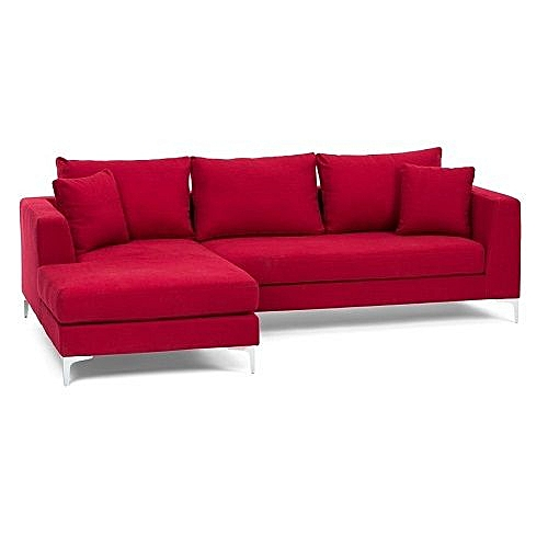 Hond L-shaped Sofa With Free Throwpillow- FREE LAGOS DELIVERY