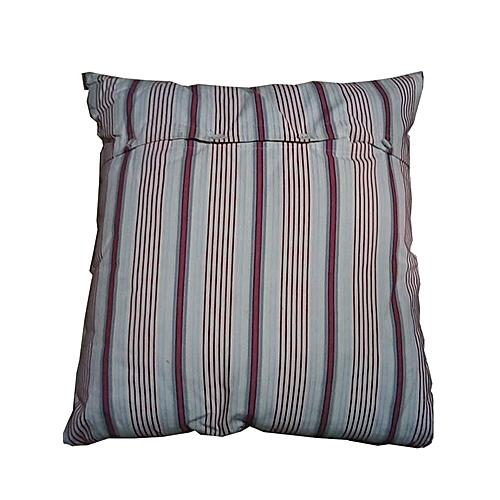 Cream & Wine Stripe Throw Pillow