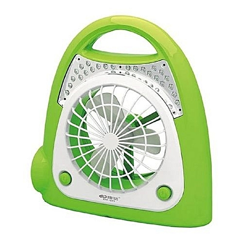 High Speed Rechargeable Table Fan With LED Light
