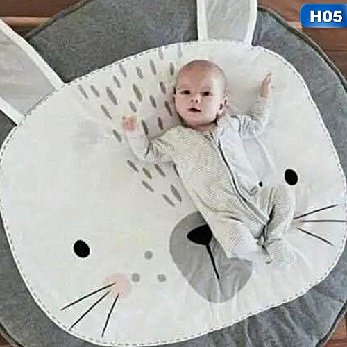 90Cm Kids Play Game Mats Round Carpet Rugs Mat Cotton Swan Crawling Blanket Floor Carpet Toys Room Raccoon Rabbit Unicorn Ins Baby