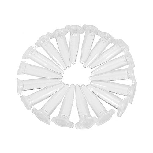 200Pcs Centrifuge Tube Test Tubing Vial Clear Plastic Vials Container Snap Cap Laboratory Sample Specimen Supplies 0.5ML
