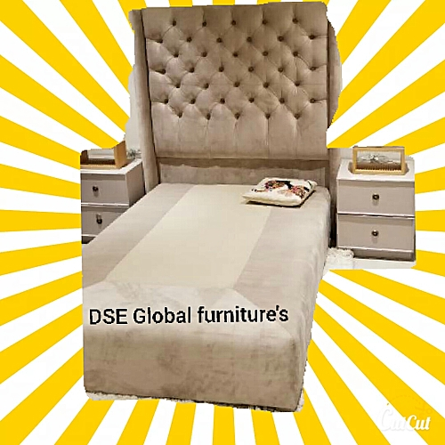 KINGS AND PRINCE DIMPLE BED WITH 2 SIDE DRAWER