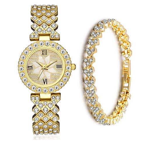 Unisex Casual Wrist Watch - Gold