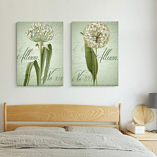 W109&12 Allium Unframed Wall Canvas Prints For Home Decorations 2 PCS