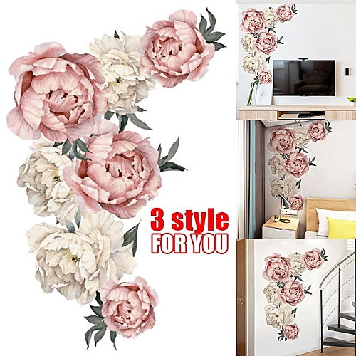 Peony Design Wall Paper Art Decal Sticker Room Decoration