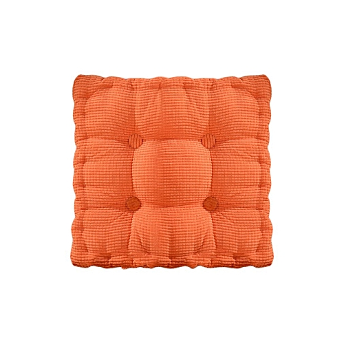 New Solid Color Square Chair Cushion Thickening Cushion Tatami Mat Chair Golden Yellow