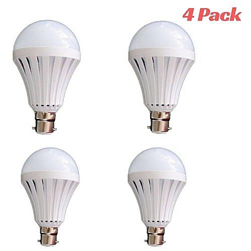 Rechargeable Bulb LED Light Bulb 7W Intelligent Emergency - Energy Saving - Pin Type (4 Pack)