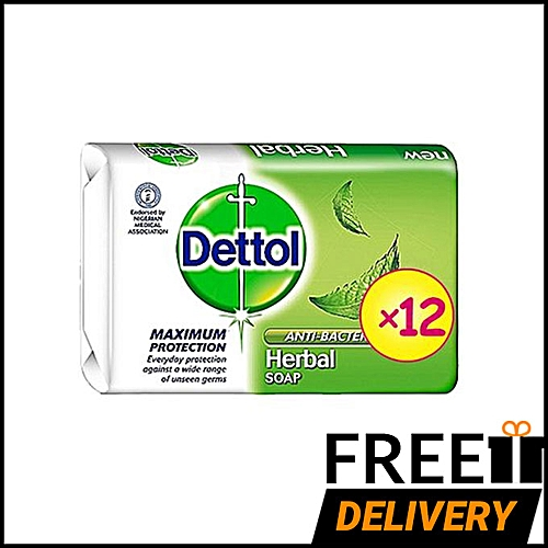 Anti-bacterial Soap 70g - Herbal - Pack Of 12 + Free Shipping ( Lagos )