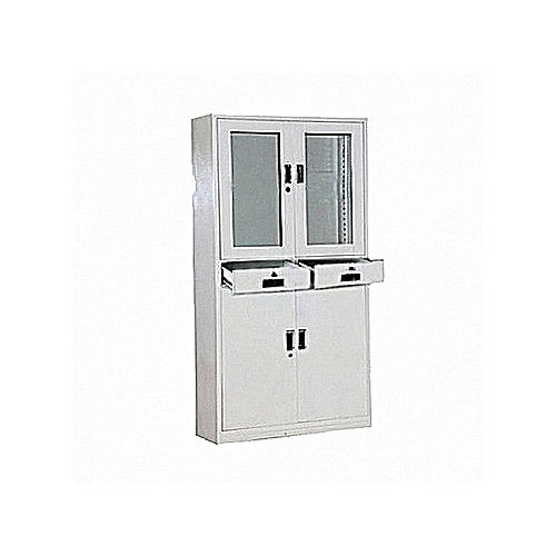Metal Glass Filing Cabinet (Delivery In Lagos Only)