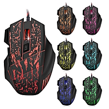 7 Colors LED Optical USB Wired Mouse Gamer Mice Computer Mause Mouse Gaming Mouse For Pro