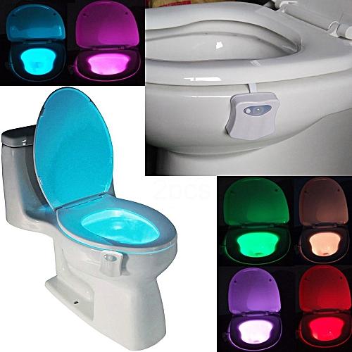 8 Colors Smart Toilet Night Light Seat Sensor Auto Lamp