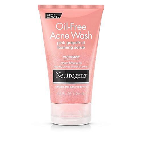 Neutrogena Oil-Free Acne Wash Scrub, Pink Grapefruit (Pack Of 2)