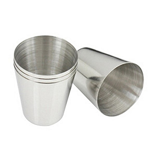 Outdoor Camping Hiking Polished Stainless Steel Liquor Cup For Hip Flask
