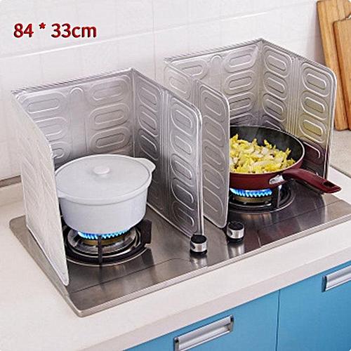Aluminum Foil Oil Block Oil Barrier Stove Cooking Heat Insulation Anti-Splashing Oil Baffle Kitchen Utensils Supplies 84*33