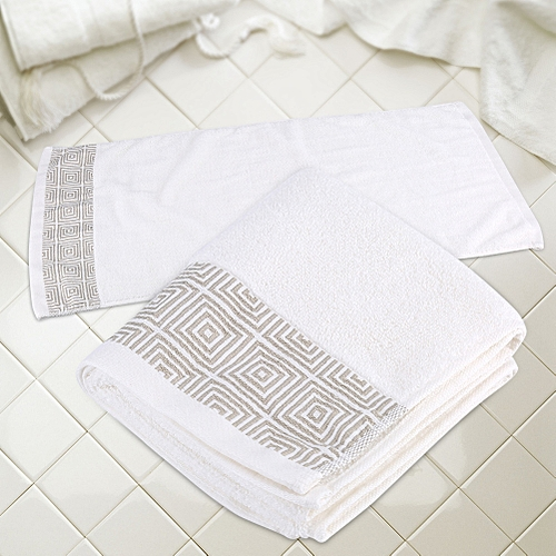 Luxury Towel Cotton Towels Face Hand Bath Towel Home Hotel White