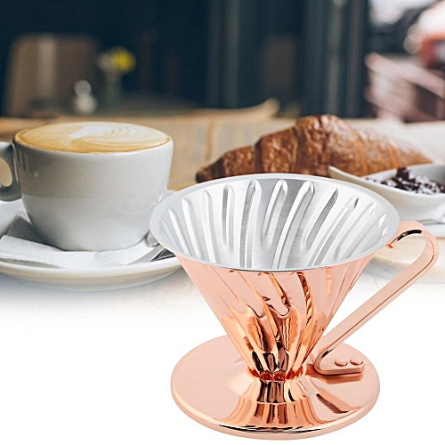 Reusable Copper Metal Drip Coffee Filtering Cup