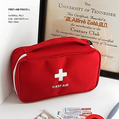 Korean Fashion Travel Portable Handbags First Aid Kit Medicine Sorting Debris Storage Bag Large Size