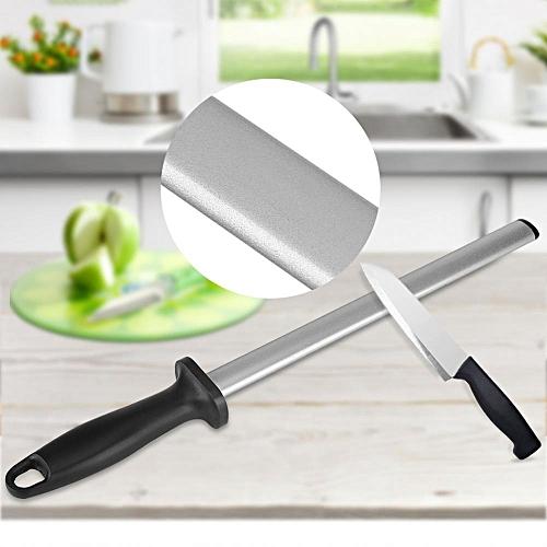 10 Inch Professional Knife Sharpening Steel Rod Home Kitchen Sharpener Stone Tool