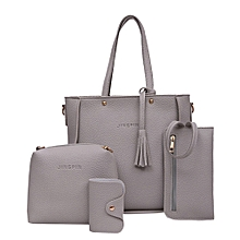 99c63e62bc1d Women Four Set Handbag Shoulder Bags Four Pieces Tote Bag Crossbody Wallet  Bags